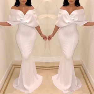 2020 Elegant Dubai Off the Shoulder Evening Dresses Mermaid Cape Sleeve Floor Length Formal Occasion Prom Party Dresses Custom made