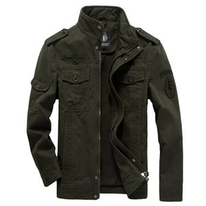 Cotton Military Jacket Men 2019 Autumn Soldier MA-1 Style Army Jackets Male Brand Slothing Mens Bomber Jackets Plus Size M-6XL T200107
