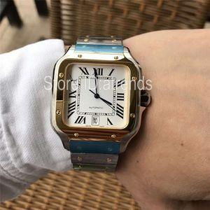 Nouveau Top Qualité Série De Mode Montre À Quartz Hommes Or Cadran Argent 40mm Complet En Acier Inoxydable Montre-Bracelet Gentleman Classique Casual Horloge 1718