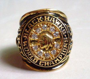 Beste Qualität Fashion Chicago Blackhawks Hull 1961 Stanley-Cup-Hockey-Meisterschaft-Ring American Hockey Fans Souvenirs Legierungs-Ring