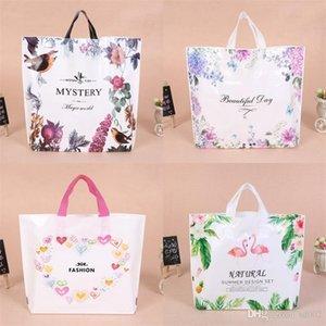 Fiore di stampa Portable Shopping Gift Bag addensare plastica Sacchetti per imballaggio modello Abbigliamento bagagli sacchetto di borsa Flamingo Cuore 0 75yl3 Bb