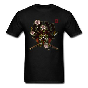 Masked Rider Kabuto Tshirt Samurai T-shirt Men Tee Cotton T Shirts Black Clothing Floral Skull Tops Swordsman Tshirts