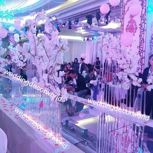 Nuevo estilo Wedding Walkway Stand Crystal Flower Stand Pillar Boda decoración de cristal decor00128