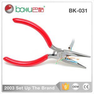 BK - 031 pinces en acier inoxydable de coupe-fil dur, pince coupante pointue réparation pince de banc de décapage de qualité industrielle cinq pouces