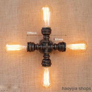 Nueva E27 Lámpara Loft Chapado de Iluminación Interior retro Rust tubo dormitorio del hogar Luz Comedor Decoración Retro Pared Industrial