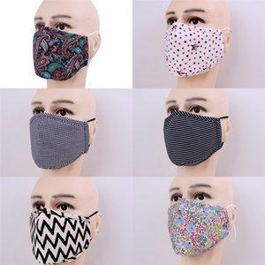 Stripe réutilisables Mascarilla Etoiles Fashion Flower Masque Anti protection poussière recyclage bouche respirateurs Coton Tissu adulte 5jma B2