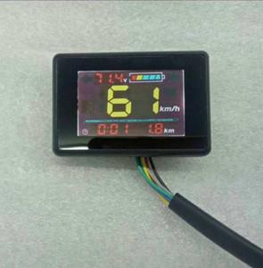 24V36V48V Display LCD Velocímetro Nível de Bateria Indicador de Nível do Odômetro para Scooter Bicicleta Elétrica MTB Tricycle ATV Partt