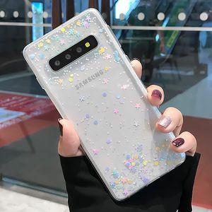 Блеск Роскошный телефон чехол для Samsung Galaxy Note 10 Pro S11 S11e S10 S9 Plus A20 A30 A50 A70 Epoxy Clear Soft TPU задняя крышка