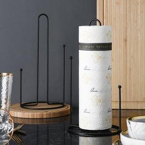Toalha de papel Titular Counter top Cozinha quarto sala de estar Dispensador de Toalha De Papel Dispenser Rack de Metal Titular Tecido # 286