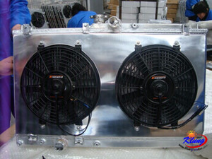 KL 1100cc all aluminum radiator with fan for chery 1100 472 ,chery 800 372 4x4 2x4 buggies ,go karts ,cars
