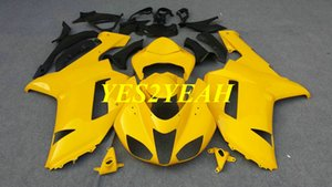 Kit de carrocería Carenado de motocicleta para KAWASAKI Ninja ZX6R 636 07 08 ZX 6R 2007 2008 ABS Carenados de carrocería amarillo + Regalos KB29