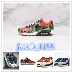 top quality 2020 NIKE AIR MAX 90 Atmos 1s 90s Shoes Trainers Atmos Animal Pack 3.0 Elephant Bred Print airmax 90 Reverse Duck Camo Sports Designer Sneakers