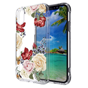 Acrylic Transparent painted Case For Motorola MOTO E5 plus E5 play G6 play TPU PC 2 in 1 Back cover Shell Oppbag