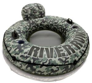 одиночный камуфляж плавающее кольцо плавательное сиденье спинка откидного сиденья ручка увеличена утолщена с ручным насосом на открытом воздухе водные виды спорта