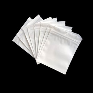 Promotion Clear + weiße Perle Kunststoff Poly OPP Verpackung Reißverschluss Zip Lock Einzelhandel Pakete Schmuck Lebensmittel PVC Plastiktüten viele Größe verfügbar