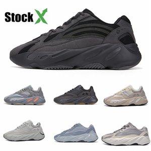 New Kanye West 700 V2 Static Ef2829 Wave Runner Laufschuhe 700S Sport Sneakers Mauve Fest Grau Luxus-Designer-Schuh # QA932