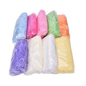 100g / paketi Çoklu Renk Craft Kıyılmış Buruşuk Kağıt Çim Dolgu Düğün Hediye Sepeti Parçalamak Parçalanmış Doku Kağıt