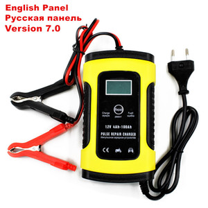 12V 5A pulso carregador de bateria Display LCD, motocicleta Car carregador de bateria, 12V AGM GEL WET de ácido-chumbo Carregador de Bateria
