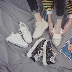 Fashion news autunno gli sport invernali padre scarpa Womens scarpe di due cotone 2019 nuovi studenti invernali all-around peluche piccolo inverni bianche scarpe da ginnastica