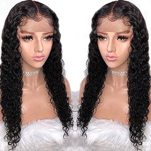 Скорости 13x6 глубокий часть кружева спереди парики человеческих волос Preplucked 360 кружева фронтальная закрытие парики для чернокожих женщин волна воды перуанский парик Реми