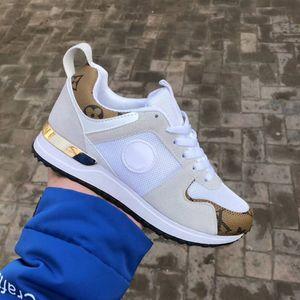 FREIES VERSCHIFFEN der neue Luxus-Leder-lässige Designer-Schuhe der Frauen Sportschuh Herrenschuhe Leder Mode Mischfarbe große Größe 36-45