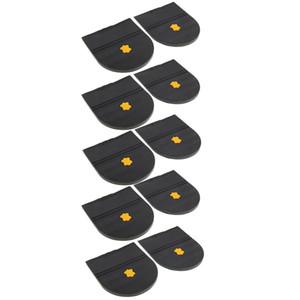 5 pares saltos de borracha cola na sola de sapato Repair almofada de substituição para o calcanhar Mens and Womens Shoe Protector 6 mm de espessura acessórios para calçados