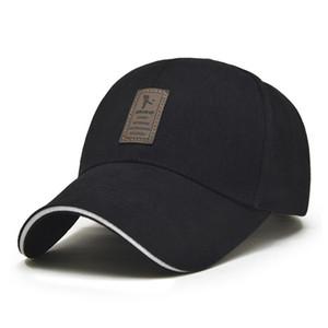 1Piece Baseballmütze Männer justierbare Kappe beiläufige Freizeithut Solid Color Mode Snapback Sommer-Herbst-Hut-Baumwollkappe hohe Qualität für all