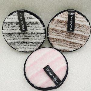 Temiz Su 4color Makyaj Temizleyici Toz Puff Doğal Çift puf SICAK Demakyaj Sünger Temizleme Yeniden kullanılabilir Makyaj Temizleyici Cotton Taraflı