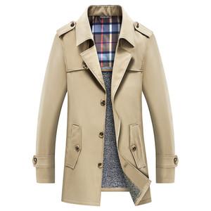 Homens Trench Coat 2019 Inverno Engrossar Trench Jacket Blazer dos homens de Negócios Casuais Blusão Outerwear Jaqueta Roupas Masculinas 6XL 7XL