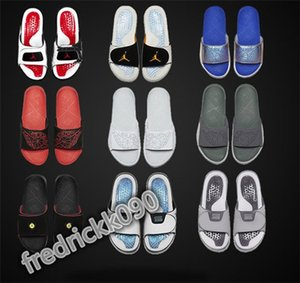 Air jordan 13 13s Hydro Slides Slippers Hydro IV 4 4s Slides Black Sandals Jumpman 11 11s Blue Black White Red Basketball Shoes Casual Sports Sneakers