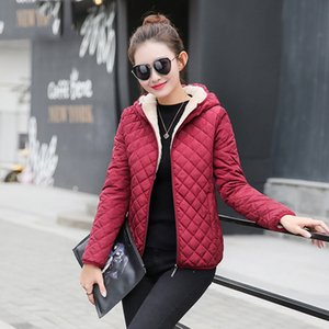 Jacket Woman Womens Designer Jackets 2019 Autumn Parkas Basic Jackets Female Women Winter Plus Lamb Hooded Coats Solid Outwear