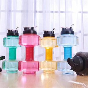 Bottiglia 2.5L esterna Palestra manubri bollitore manubri acqua fitness bottiglia Outdoor Fitness della bici della bicicletta di campeggio esterna Acqua 5 colori XD21949