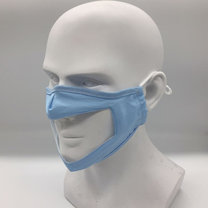 2020 6 cores Surdo e Mudo Lip Idioma máscara à prova de poeira novo Anti-haze TPU máscara transparente Civil Multicolor lavável