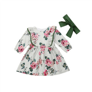 1Y-5Y Flower Toddler Kid Baby Girls Dress Long Sleeve Baby Girl Dress Cute Party Wedding Holiday Dress For Girls