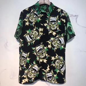 Le nuove camice Designer Mens Abbigliamento Camisa Top Moda estate maglietta casuale Tee Shirt frankenstein stampato camicia degli uomini
