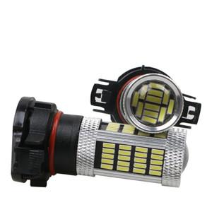 2adet PSX24W H16 LED PSX24W PSY24W 9009 5301 S19W Sis Lambaları Oto Ampul LED Araç Lambası 6500K Beyaz 3000K sarı Sis Işık