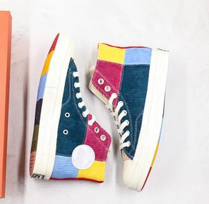 Yeni Tasarımcı 2020 Yeni Ayakkabı 1970'ler renkli Kadife Casual Tuval Erkekler Kadınlar Kaykay Sneaker Eğitmenler boyutu 35-44