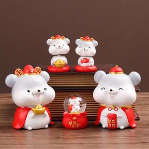 Прелестный Piggy Bank Год Крысы Shaped подарок день рождения Креативных Копилки Главной Украшение рабочего стол Украшение монеты Банка для детей