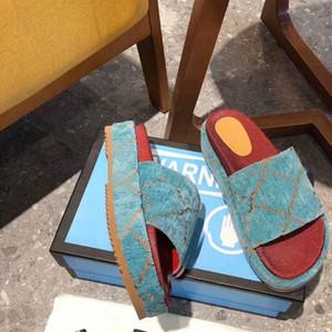 2020 alphabet fashion ladies sandals summer wedge heel high heel thick bottom sponge cake ladies designer slide slippers brand windproof fla