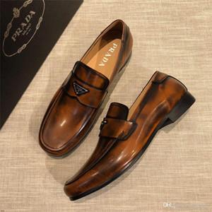 20FW Markalar Erkek Elbise Ayakkabı Lüks Moda Damat Düğün Ayakkabı Deri Ayakkabı Erkekler Büyük Boyutları 38-45 Parti Erkek Biçimsel ayakkabı YECQ4