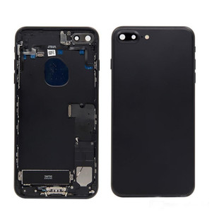 5.5 lnch pour IPhone 7Plus arrière, cadre central, châssis complet, boîtier 7Plus, cache de batterie, porte arrière avec câble souple