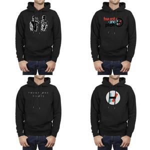Hommes Design Impression de tour twenty_One_Pilots noir surdimensionné Sweat-shirt personnalisé Superhero épais Hoodie Twenty One groupe Indie pilotes