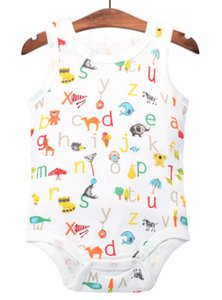 DHL 200pcs Baby Boys Girls Cotton Cartoon Bodysuit Newborn Totoro Jumpsuit Clothes Infant Sleeveless Bodysuit