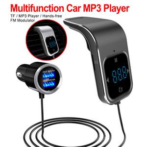 Hızlı Eller serbest Çift USB Şarj ile BC39 Araç Bluetooth Adaptörü FM Verici AUX Radyo MP3 Çalar FM Modülatör
