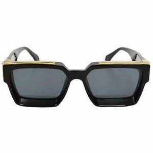 NUEVO Luxury 1.1 MILLIONAIRE SUNGLASSES hombre mujer marco completo Vintage diseñador MILLIONAIRE 1.1 gafas de sol Millionaire Logo Negro Hecho en Italia