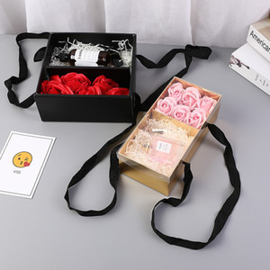 الإبداعية إمدادات مربع مربع حلوى الزفاف على النمط الأوروبي مربع الحلوى هدية مربع المحمولة الزهور للطي علبة الصابون