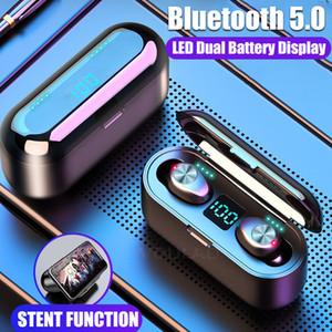 F9 TWS fones de ouvido sem fio Bluetooth 5.0 HIFI auriculares estéreo headset Baixo Com MIC 2000mAh recarregável PK i10 i12 i11 i100 tws