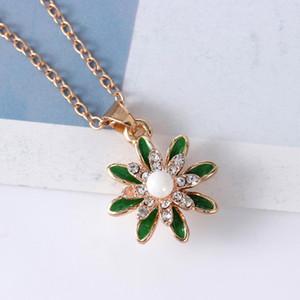 Colar da flor Marca Coreia Nova Jóias Declaração de Moda Mulher Maxi Choker colar de pérolas Neckalce Acessórios Imitação quente