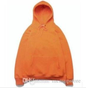 Hiphop Mens Hoodies Rapper Kanye West Hooded Embroidery Sweatshirts hoodie Tops orange82fe#