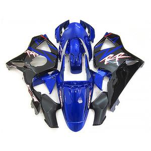 Hot sale fairing kit for Honda CBR900RR 2002 2003 black blue fairings set CBR 954RR 02 23 FD35